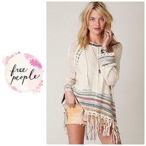 Free People Tah-loo crochet jacket - hooded poncho
